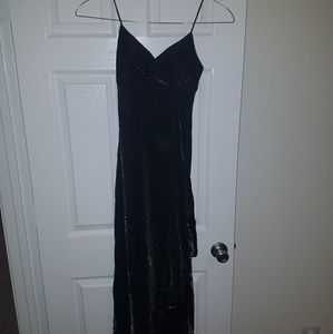 Black and Silver Full Length Gown